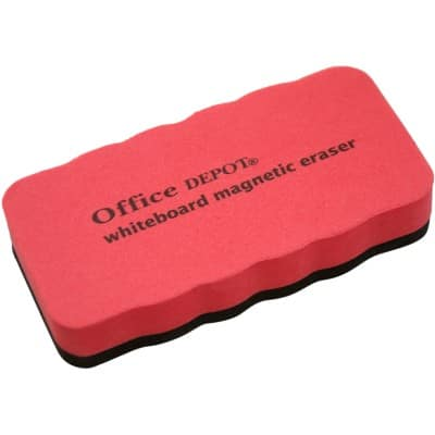 Office Depot Magnetic Whiteboard Eraser Red