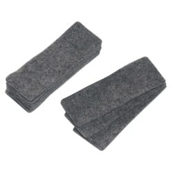 Office Depot Magnetic Eraser Refills Grey 14.8 x 5.5 cm 10 Pieces