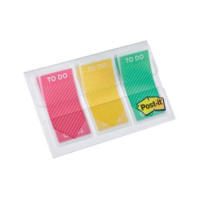 Post-it Index Flags To Do Assorted 20 Strips Pack of 3