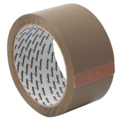 Niceday Packaging Tape 50 mm x 66 m Brown 36 Rolls