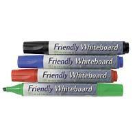Friendly Whiteboard Markers Assorted Pack of 4