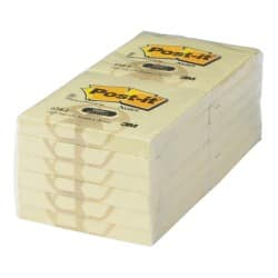 Post-it Recycled Notes 654-1Y Yellow No 76 x 76 mm 70gsm 12 pieces of 100 sheets