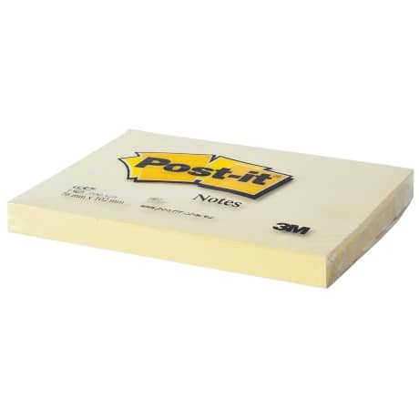 Post-it Sticky Notes 76 x 102 mm Yellow 12 Pieces of 100 Sheets