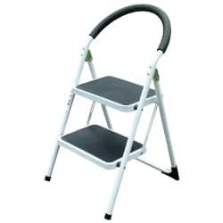 2 Tread Step Ladder Stool White