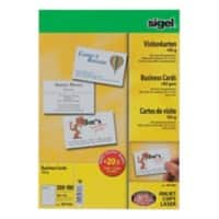 Sigel DP930 Business Cards 85 x 55 mm 185gsm White Pack of 600