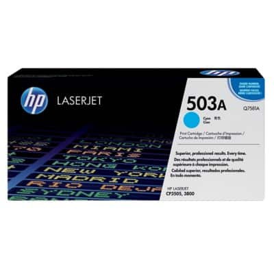 HP 503A Original Toner Cartridge Q7581A Cyan