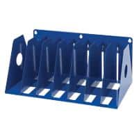 Rotadex Wall Rack A4 Holds up to seven ring binders Blue 36.8 x 22.2 x 16.2 cm