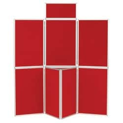 7 Panel Display Unit Red 923 H x 619 W mm