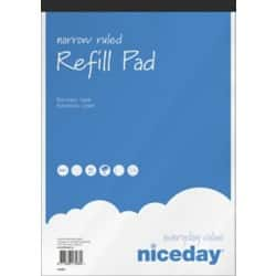 Niceday Refill Pads White Narrow Ruled perforated A4+ 29.5 x 21 cm 5 pieces of 80 sheets