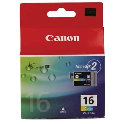 Canon BCI-16C Original Ink Cartridge 3 Colours 2 Pieces
