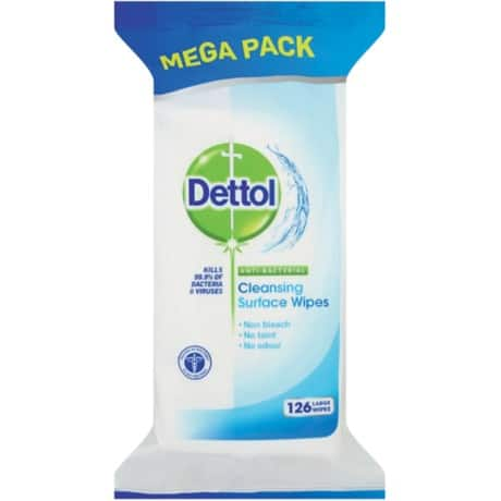 Dettol Surface Wipes Antibacterial unscented 126 pieces