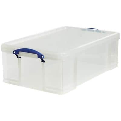 Really Useful Boxes Storage Box 50 L Transparent Plastic 71 x 44 x 23 cm