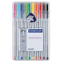 Staedtler Triplus 334 Fineliner Fine 0.3 mm Assorted Pack of 10