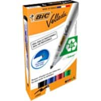 BIC 1701 Velleda Whiteboard Marker Round Assorted Pack of 4