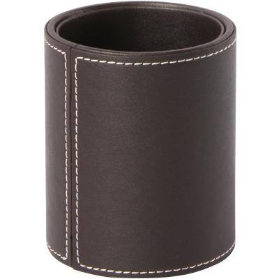 Osco Pencil Pot Faux Leather Brown 10.5 cm
