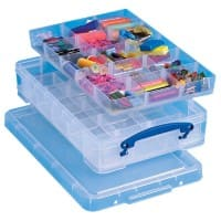 Really Useful Boxes Storage Box 4C2xHDIVC 4 L Transparent Plastic 39.5 x 25.5 x 8.5 cm