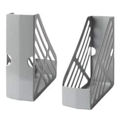 Large Capacity Plastic Magazine Files - Grey