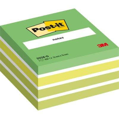 Post-it Sticky Note Cube 76 x 76 mm Assorted 450 Sheets