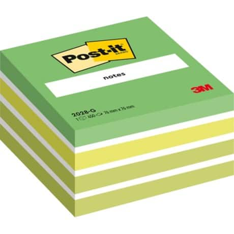 Post-it Sticky Note Cube Green 76 x 76 mm 70gsm 450 sheets