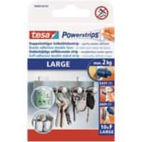 tesa Powerstrips Special Tapes Powerstrips 0.05 m White 10 Pieces