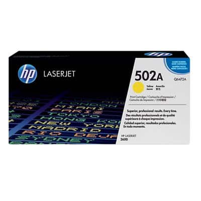 HP 502A Original Toner Cartridge Q6472A Yellow