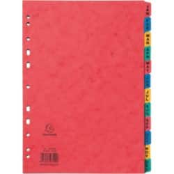 Exacompta Dividers A4 Assorted 12 tabs 11 paper jan - dec