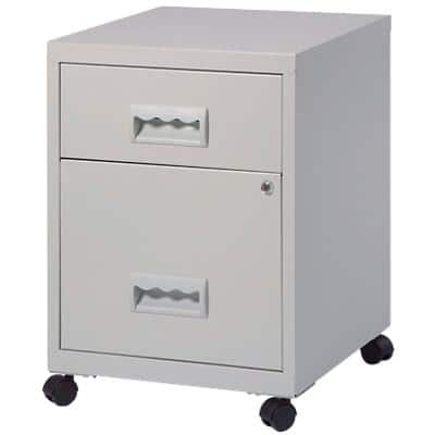 Pierre Henry Filing Cabinet Combi Grey 410 x 410 x 530 mm