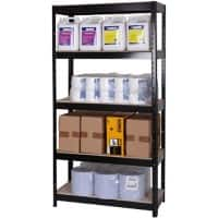 Shelving Unit Black 700 x 300 x 1,400 mm