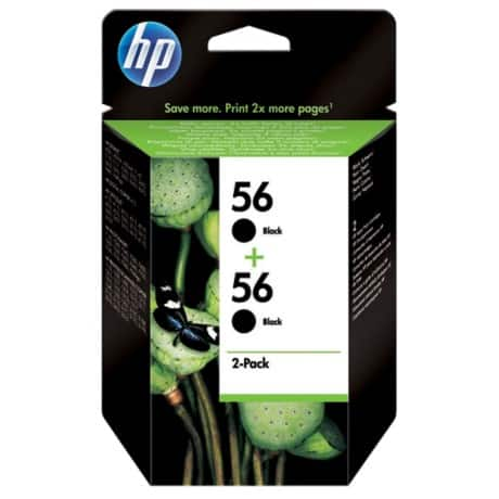 HP 56 Original Ink Cartridge C9502AE Black 2 pieces