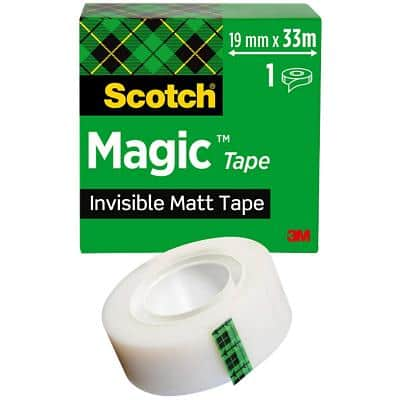 Scotch Magic Tape 19mm x 33m Invisible