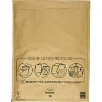Mail Lite Mailing Bags K/7 79gsm Gold Plain Peel and Seal 470 x 350 mm Pack of 50