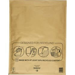 Sealed Air Mailing Bags k/7 79gsm Gold plain peel and seal 50 pieces