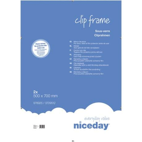 Niceday Clip Frame 700 H x 500 W mm 2 Per Pack