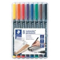 Staedtler Lumocolor Permanent OHP and CD Pens - Assorted - Pack Of 8