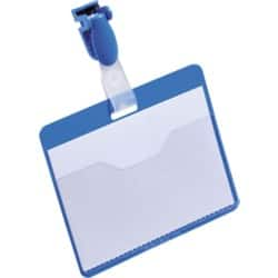 Durable Visitor Name Badges 60 x 90 mm - Blue