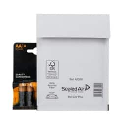 Sealed Air Mailing Bags a/000 White plain peel and seal 100 pieces