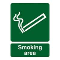 Mandatory Sign Smoking Area PVC 30 x 40 cm