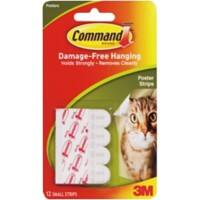 Command Mounting Strip 0.45 kg Holding Capacity White Pack of 12