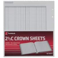 ACCO Ledger Sheets Twinlock Crown Sheets Double Cash Ledger 2.5C (100) 22.9 x 25.6 x 25.1 cm White 100 Sheets