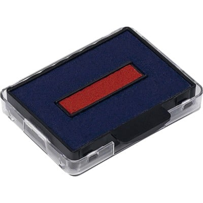 Trodat Replacement Ink Pad 6/50/2 Blue/ Red 2 Pieces