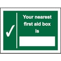 First Aid Sign Nearest First Aid PVC 20 x 15 cm