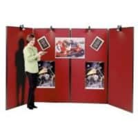 Jumbo Freestanding Display Stand 914 x 1829mm Red