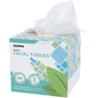 Highmark Facial Tissue Box Standard 2 Ply 100 Sheets