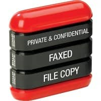 Trodat 3 in 1 Stamp Stack English Black, Red