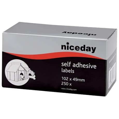Niceday Address Labels White 49 x 102 mm 250 labels per pack