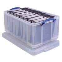 Really Useful Boxes Storage Box Extra 64 L Transparent Plastic 44 x 71 x 31 cm