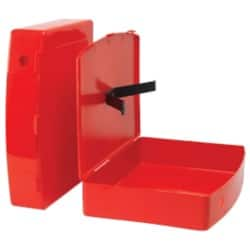 Box File Foolscap 79 mm Red