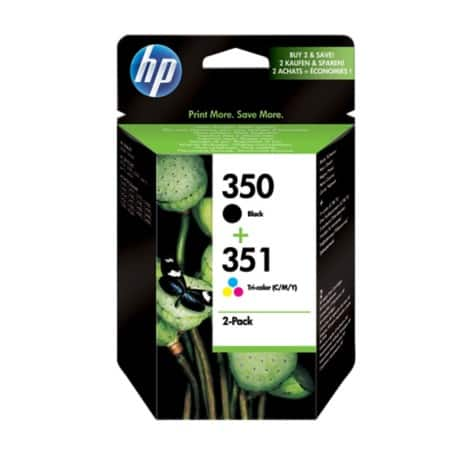 HP 350/351 Original Ink Cartridge SD412EE Black & 3 Colours 2 pieces