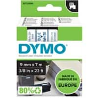 Dymo D1 Labels Blue On White 9 mm x 7 m
