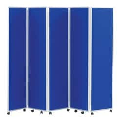 Concertina Display System/Room Divider - Royal Blue 5 Screen 180 cm
